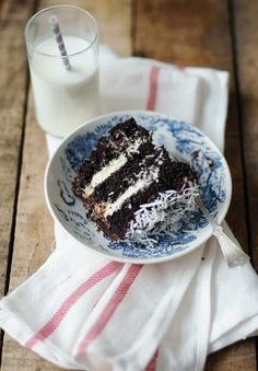 Chocolate Fudge & Coconut Cake 1