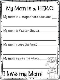 Cute Mother's Day book...just for all of the SUPER MOMS out there!