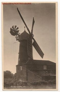 Stickney, Lincolnshire. The Mill. Real Photo Postcard. Windmill | eBay