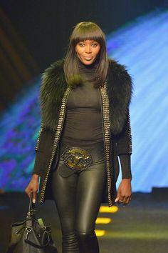 Naomi Campbell Makes Her Fall 2014 Runway Debut at Philipp Plein