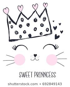 Find Sweet Princess Girl Hand Drawing Illustration stock images in HD and millions of other royalty-free stock photos, illustrations and vectors in the Shutterstock collection. Image Deco, Princess Girl, Girls Hand, Cat Birthday, Cat Party, Hand Art, Kids Prints, Cute Illustration, Art Illustrations