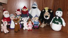 Handmade Crocheted Amigurumi Rudolph and the Misfit Toys Complete set of 12 by TheKnittingGnomeVT on Etsy