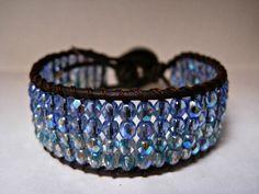 Beaded Leather Wrap Bracelet Cuff a day at by CristinaDavisJewelry, $35.00