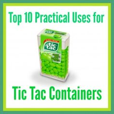 Top 10 Practical Uses for Tic Tac Containers