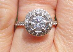 Art Deco Estate Antique Diamond engagement ring by gems4borth