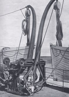 Lowering The Lifeboats. The Titanic's Welin davits could lower three boats in succession. Originally enough boats were planned to evacuate everyone on board. By the time Titanic went into service, there were lifeboat places for less than one in three.