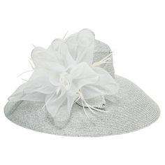 Badgley Mischka Metallic Rosette Wide Brim Hat #VonMaur- found this in black and have been kicking myself for not getting it!!!!