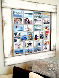 Lake Girl Paints: Build a Photo Display Board | #DIY #crafts #wall decor inspiration Ideas | photography dispaly | best stuff