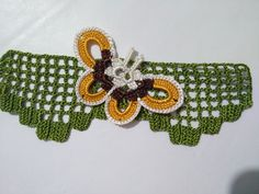Crochet Work Butterfly Towel Edge Model / New Example / Narrative Construction Daisy Headband, Flower Girl Headbands, Toddler Headbands, Felt Flowers, Crochet Flowers, Cake Decorating Equipment, Baby Record Book, Honey Face Mask, Diy Pallet Furniture