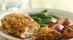 Add great crunch and flavor to chicken with crushed potato chips.