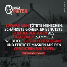 Ed Gein - Inspiration bei schweigen der Lämmer  #horror #horrorfakten #fakten