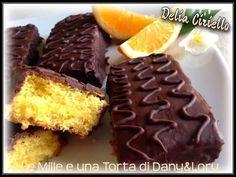 Condividi la ricetta...RICETTA DI: Delia Ciriello MERENDINE TIPO FIESTA Ingredienti per 10/12 pezzi Per il pan di Spagna: 2 uova 90 g zucchero 100 g di farina + 25 g di fecola 1/2 bustina lievito…