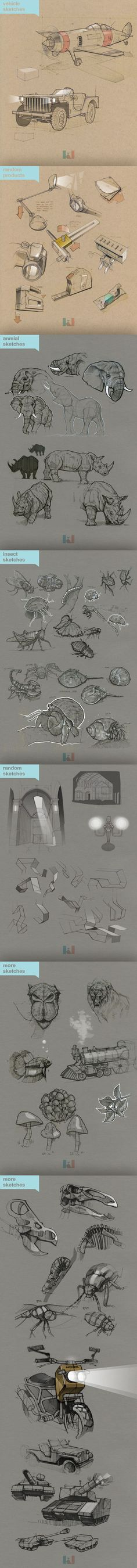 Sketches by Kidong Kwon, via Behance: