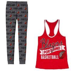 Women's #Portland #TrailBlazers Black Free Time Pajama Set!