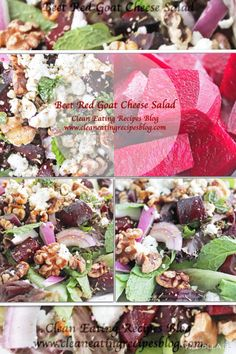 Clean eating recipe: beet red goat cheese salad #cleaneating #healthyeating
