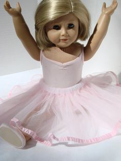 """What a sweet little pink ballerina tutu American Girl 18"""" Doll outfit. Inspiration."""