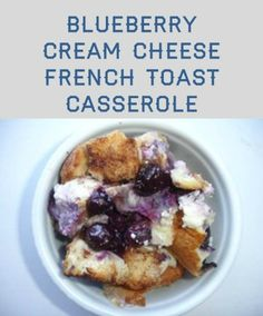 Looking for an easy breakfast casserole? Look no further than this blueberry cream cheese French toast casserole!