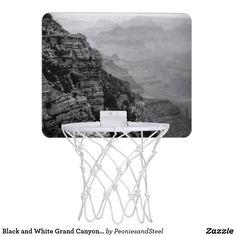 Black and White Grand Canyon Basketball Hoop