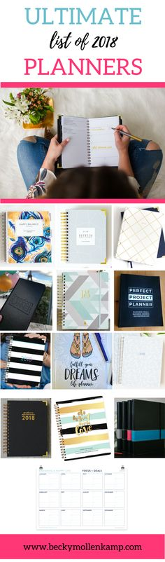 Looking for the perfect planner for 2018? This list includes reviews of 13 amazing calendars to help you get organized and stay productive. There are planners for women business owners that are made by female entrepreneurs, so you can support other creative business owners with your purchase. Go check them out!