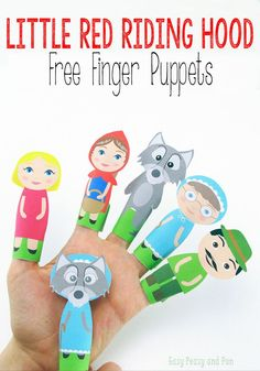 Little Red Riding Hood Finger Puppets - Easy Peasy and Fun
