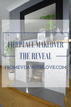 Evija Reveal How We Modernized Our Old Stone Fireplace on a Budget