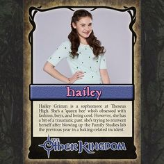 She knows what she wants and she goes for it! Meet #TheOtherKingdom's Hailey Grimm! (Link in profile)