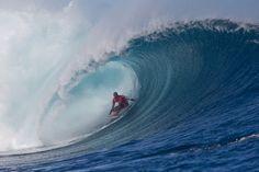 Kelly Slater Dominates At The Volcom Fiji Pro. Photo: Brent Bielmann