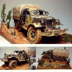 Germany's Army diorama. Modeler Oleg Panchenko #scalemodel #plasticmodel #plastimodelo #plastickits #usinadoskits #udk #hobby #diorama