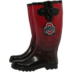 #FanaticsSummerWishList  Ohio State Buckeyes Ladies Scarlet-Black Tall Rain Boots
