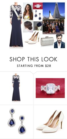 """ROYAL CROSSOVER: FLASHBACK: Attending the coronation of King Felix I of Iceland"" by hrh-amelia-of-croatia ❤ liked on Polyvore featuring Badgley Mischka, Effy Jewelry, Rupert Sanderson and Jimmy Choo"