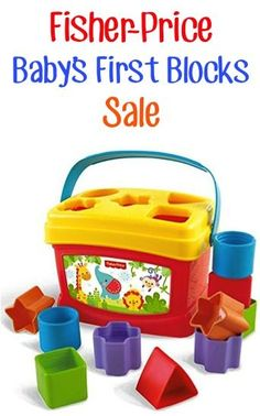 Fisher-Price Baby's First Blocks Sale: $7.99!  {great first toys for Baby, and the perfect addition to your Baby Shower gift!}