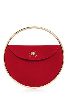 Red suede this is not a bag handbag by CHARLOTTE OLYMPIA Now Available on Moda Operandi