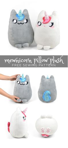 Mewnicorn Pillow Plush | Choly Knight - Free pattern and step by step Photo tutorial - Schritt für Schritt Bildanleitung und gratis Schnittvorlage