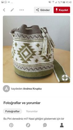 Diy Crochet, Crochet Hats, Mochila Crochet, Handmade Handbags, Pottery Designs, Tapestry Crochet, Fabric Bags, Crochet Purses, Quilted Bag
