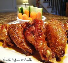 South Your Mouth: Crispy Baked Chicken Wings with Sweet Asian Hot Wing Sauce