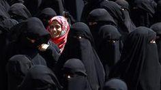 Frauen im Niqab