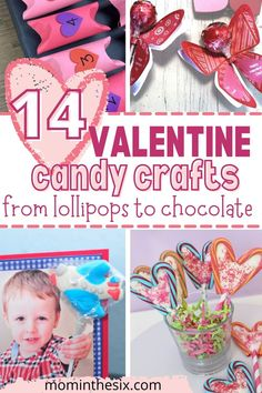 Valentine Candy Crafts. Valentine's Day means hearts, love and candy! We've asked some of our friends to share their best Valentine Candy Crafts that feature lollipops and hershey kisses and other sweet treats. Creative. Easy Ideas For Kids.
