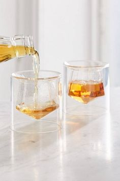 Urban Outfitters Gem Shot Glass - Set Of 2 Clear One Size Deco Design, Glass Design, Design Design, Kitchen Items, Kitchen Decor, Kitchenware, Tableware, Shot Glass Set, Home Accessories