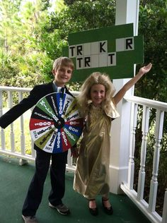 Wheel of Fortune! - Homemade costumes for kids Check out your local Goodwill for all of your Halloween shopping Homemade Costumes For Kids, Diy Halloween Costumes For Kids, Halloween Costume Contest, Cute Costumes, Creative Halloween Costumes, Costume Ideas, Zombie Costumes, Awesome Costumes, Halloween Clothes