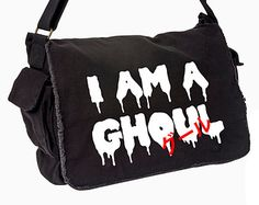 I Am A Ghoul グール Tokyo Ghoul Anime Inspired Messenger Bag