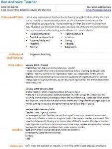 Example English Teacher Resume CV style | Career | Pinterest ...