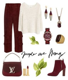 """Joy."" by schenonek ❤ liked on Polyvore featuring Edun, MANGO, Dune, Marni, LE VIAN, Michael Kors, Lipstick Queen, Louis Vuitton and Alexis Bittar"
