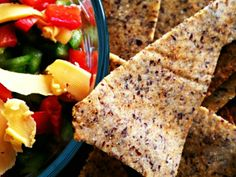 """Low Carb Chili """"Doritos"""" Recipe // using coconut flour, almond meal and flax seeds via Ditch the Wheat #grainfree #healthy #paleo"""