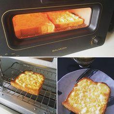 2016/06/26 09:45:16 makimaki0404 バルミューダ様が我が家にやってきました!早速、チーズトーストにトライ。マジで美味い‼︎味(食感)が伝わらないのが残念。。 #トースト #チーズトースト #toast #cheesetoast #BALMUDA #バルミューダ