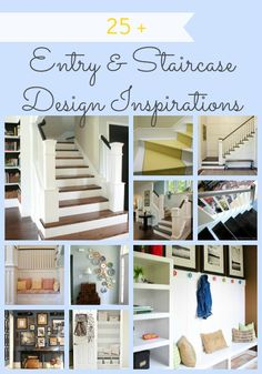 Entryway And Staircase Inspiration from Remodelaholic.com #inspiration #staircases #entryway