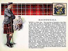 history,kilt, tartan and arms of clan MacDougall