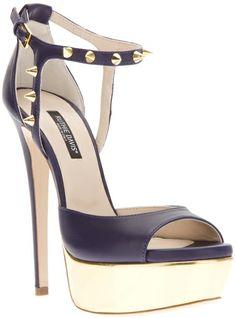 Ruthie Davis® Jupiter Sandal in Purple (plum) I Love My Shoes, Crazy Shoes, Me Too Shoes, Stiletto Shoes, Pumps Heels, High Heels, Stilettos, Ruthie Davis, Purple Shoes
