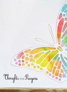 Cute Cards, Diy Cards, Sympathy Cards, Greeting Cards, Butterfly Cards, Butterfly Cutout, Die Cut Cards, Watercolor Cards, Creative Cards