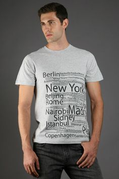 Classic Fit The Urban Man Limited Run Typographic Mens Heather T-Shirt, Available in S, M, L, XL
