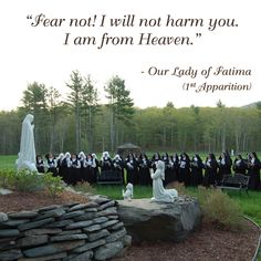 Fear not! I will not harm you. I am from Heaven. I too have stood here  whilst on a pilgrimage.